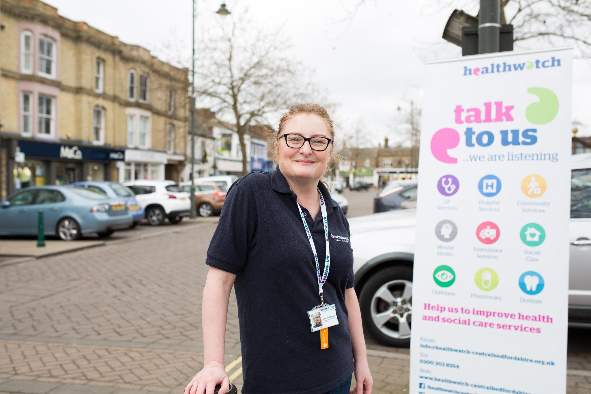 Healthwatch volunteer smiling