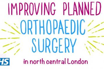 Text that says improving planned orthopaedic surgery