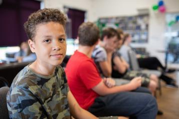 three young teenage boys