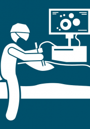 Doctor checking patient in bed